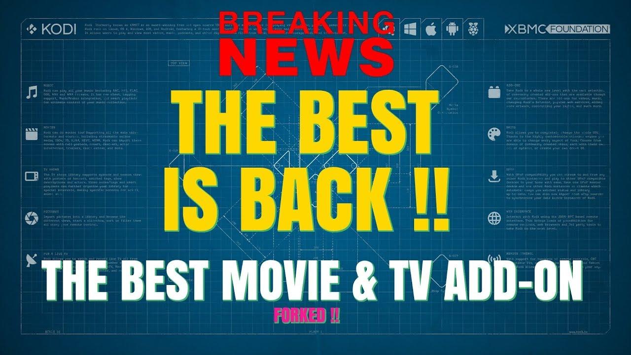 BREAKING NEWS – BEST KODI ADD-ON BACK UNDER NEW FORK !!