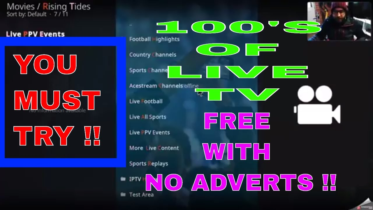 THE BEST HD LIVE TV ADD-ON ON KODI FOR FREE !!