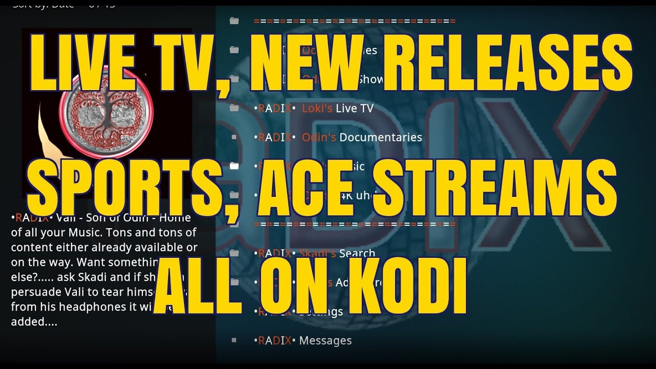 A KODI ADD-ON FOR ALL YOUR NEEDS – RADIX (2018)