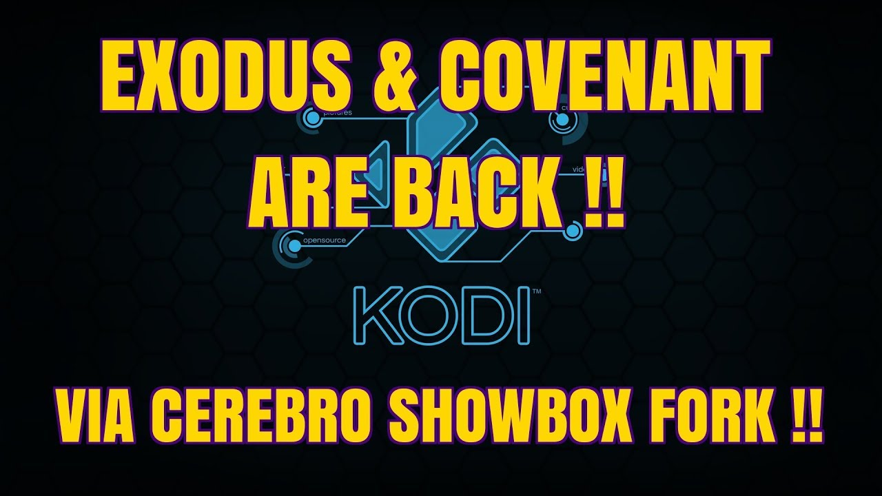 GET BRAND NEW EXODUS & COVENANT WITH CEREBRO SHOWBOX on kodi (2017)