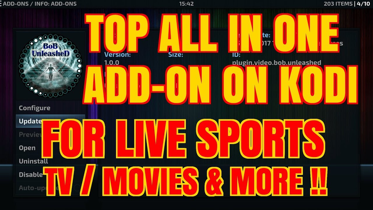 INSTALL BOB UNLEASHED & get movies, tv, sport and much more on KODI (2017)