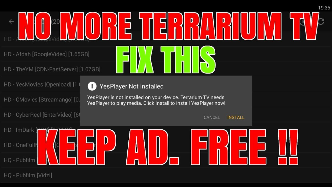 IS THIS THE END OF TERRARIUM TV ??  FIX THE PLAYER 👍 AD. FREE 💥BETTER OPTIONS !! 😍