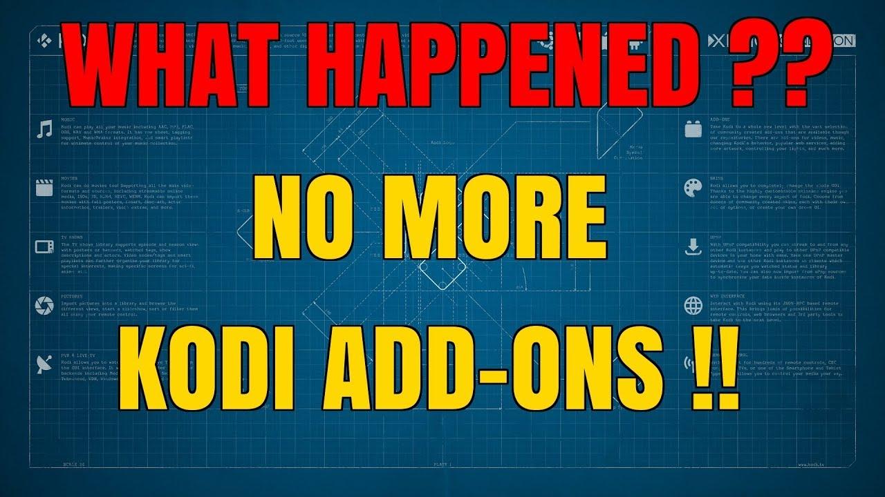 KODI ADD-ONS CLOSE DOWN !!