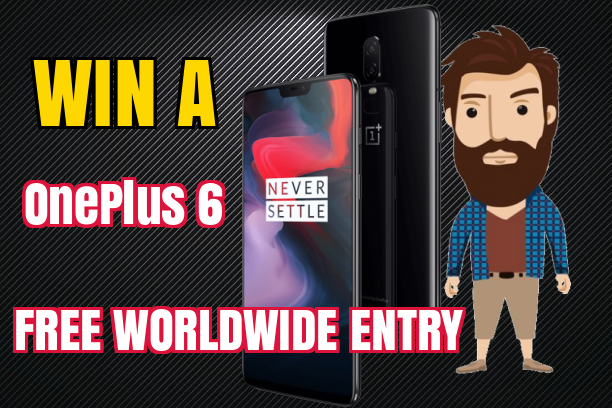 Win a OnePlus 6 Mirror Black 64 gb (World Wide Entry)
