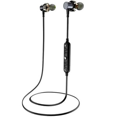 SPECIAL OFFER –  Awei X660BL Quad-core Dual Dynamic Double Circle In-Ear Earbuds Necked Magnetic Bluetooth Earphone  =  £32.95