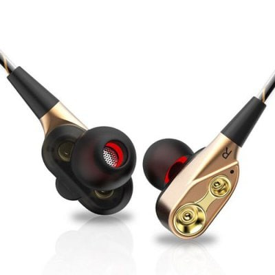 SPECIAL OFFER –  7D HIFI Isolating Fone De Ouvido Dual Dynamic Driver Super Bass Stereo In-Ear Earphone Headset  =  £10.95