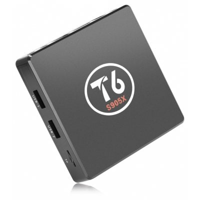 SPECIAL OFFER –  T6 S905X TV Box 2.4GHz Quad Core Android 7.1 True 4K Playing  =  £27.46