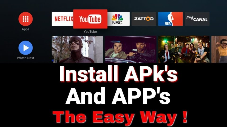 Install Streaming APPS on Android TV OS the easy way - Nvidia Shield
