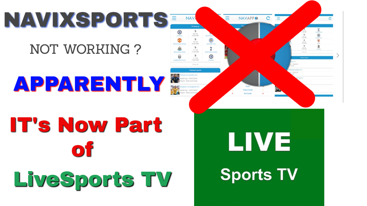 Navixsports Gone !! New LiveSports TV apk replaces it for